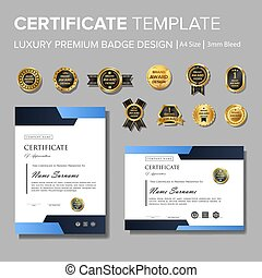 projektować, nowoczesny, odznaka, świadectwo