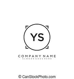 projektować, pismo, ys, początkowy, logo