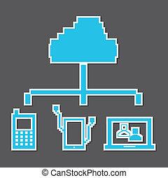 projektować, pixel, techniczny