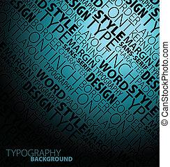 projektować, typografia, tło