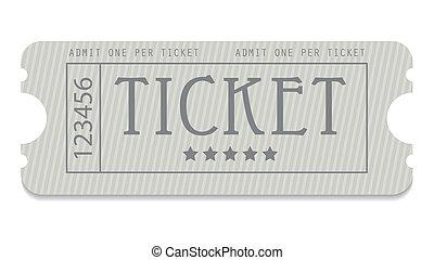 projektować, wejście, stary, bilet, szczególny