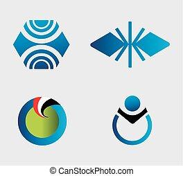 projektować, wektor, komplet, elementy