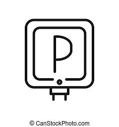 projektować, znak, ilustracja, parking