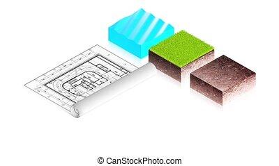 projet, blocs