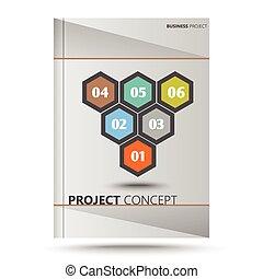 projet, concept, hexagone