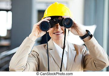 projet, directeur, construction
