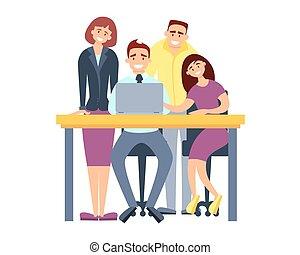 projet, discussion affaires, équipe
