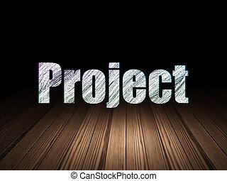 projet, grunge, salle, business, sombre, concept:
