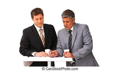 projet, hommes affaires, fonctionnement