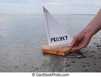 projet, nouveau, lancement