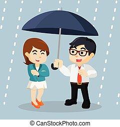 projet, parapluie, business, sous