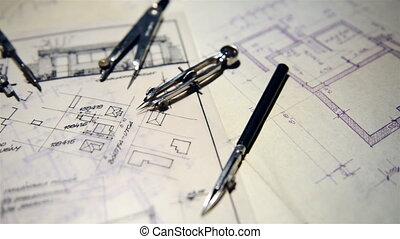 projet, partie, architectural, arc