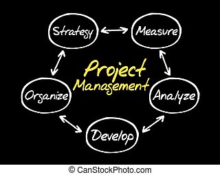 projet, processus, gestion, diagramme