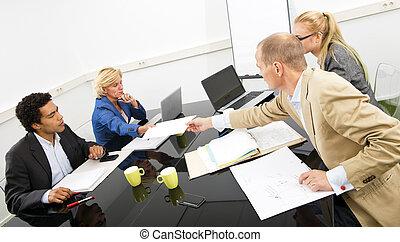 projet, réunion, équipe