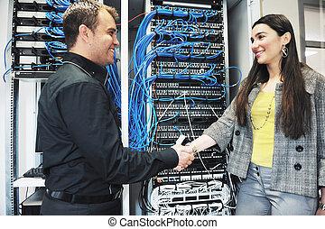 projeta, em, usuário rede, sala