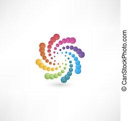 projete elementos, com, espiral, motion.