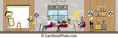 projete estúdio, interior