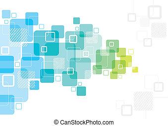 projeto abstrato, com, quadrados