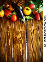 projeto abstrato, fundo, legumes