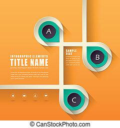 projeto abstrato, infographics