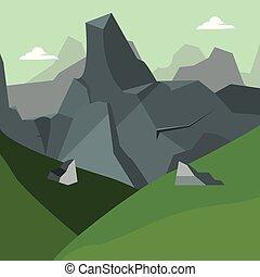 projeto abstrato, paisagem