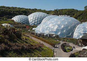 projeto, biomes, paisagens, éden