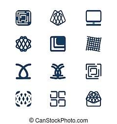 projeto fixo, geomã©´ricas, logotipos, para, companhia