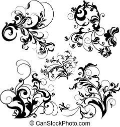 projeto floral, elementos