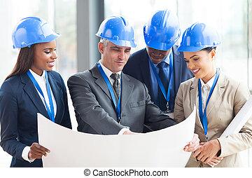 projeto, grupo, discutir, arquitetos