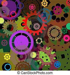 projeto industrial, coloridos, fundo