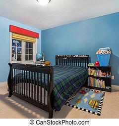 projeto interior, crianças, sala