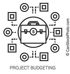 projeto, linha, orçando, infographic.