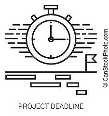 projeto, linha, prazo de entrega, infographic.