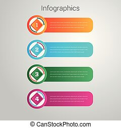 projeto moderno abstrato, infographics
