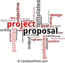 projeto, palavra, proposta, -, nuvem