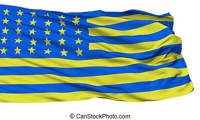 projeto, para, bandeira ucrânia, isolado, branco