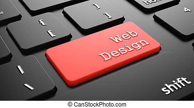 projeto teia, button., vermelho, teclado