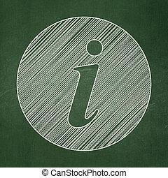 projeto teia, concept:, informação, ligado, chalkboard, fundo