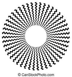 projeto teste padrão, espiral, ziguezague