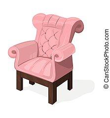 projetos, upholstery, modernos, isolado, cobrança, cadeira, branca