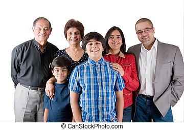 prolongé, indien, famille