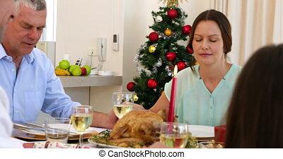 prolongé, maxime, avant, dîner, famille