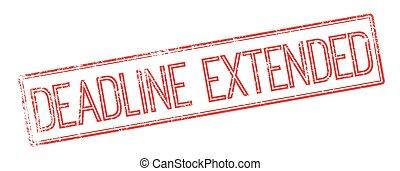 prolongé, timbre, caoutchouc, date limite, blanc rouge