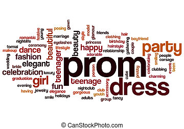Prom word cloud concept
