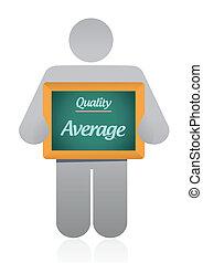 promedio, calidad, señal, ilustración