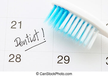 promemoria, dentista, appuntamento