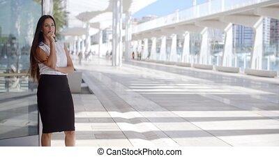 promenade, affaires femme, sophistiqué