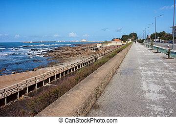 Promenade Along Atlantic Ocean in Porto