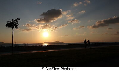 promenade at sunset 3