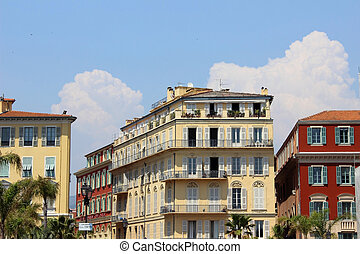 Promenade des Anglais - Buildings along the English...